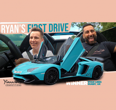 VIDEO: Watch Ryan take delivery of Yianni's Lamborghini Aventador SV Roadster and even takes Yianni for a spin!