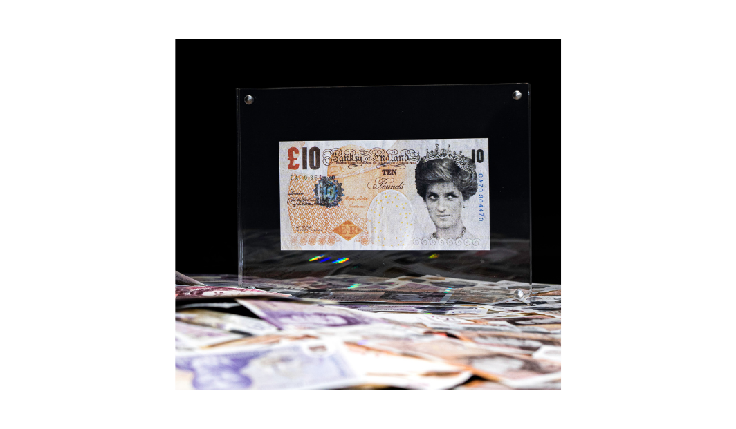 Banksy Lady Di-Faced £10 Print