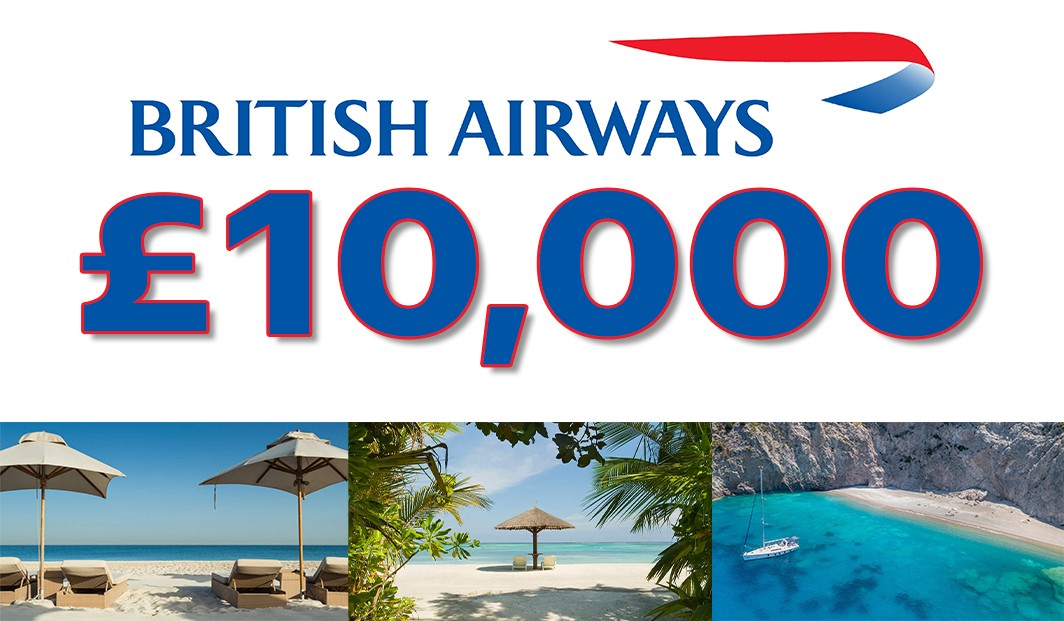 £10,000 BRITISH AIRWAYS VOUCHERS